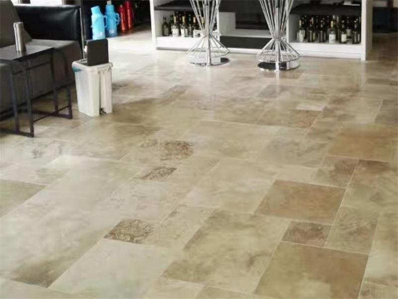 Beige Travertine French Pattern