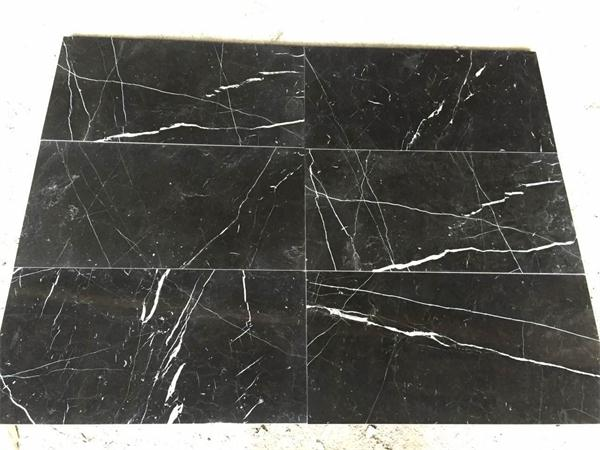 Nero Marquina Marlbe Glossy Floor And Wall Tiles