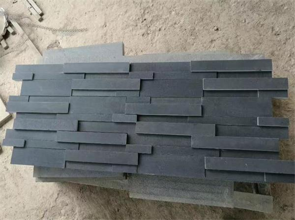 Black Basalt Cultured Stone Wall Decoration Tiles